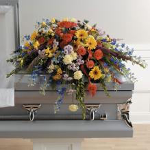Colorful Memories Casket Spray