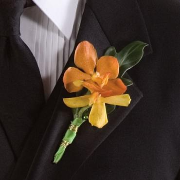 Spray Orchid Boutonniere