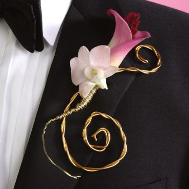 Gold Wire Boutonniere