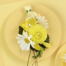 Daisy and Dahlia Corsage